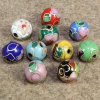Cloisonne Perlen, Cloisonné, rund, handgemacht, keine, 10mm, Bohrung:ca. 1.5mm, 10PCs/Tasche, verkauft von Tasche