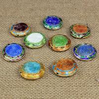 Cloisonne Perlen, Cloisonné, flache Runde, handgemacht, keine, 20mm, Bohrung:ca. 1.5mm, 10PCs/Tasche, verkauft von Tasche
