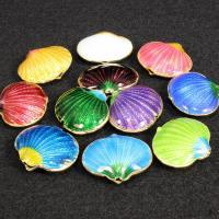 Cloisonne Perlen, Cloisonné, Schale, handgemacht, keine, 20x16mm, Bohrung:ca. 1.5mm, 10PCs/Tasche, verkauft von Tasche