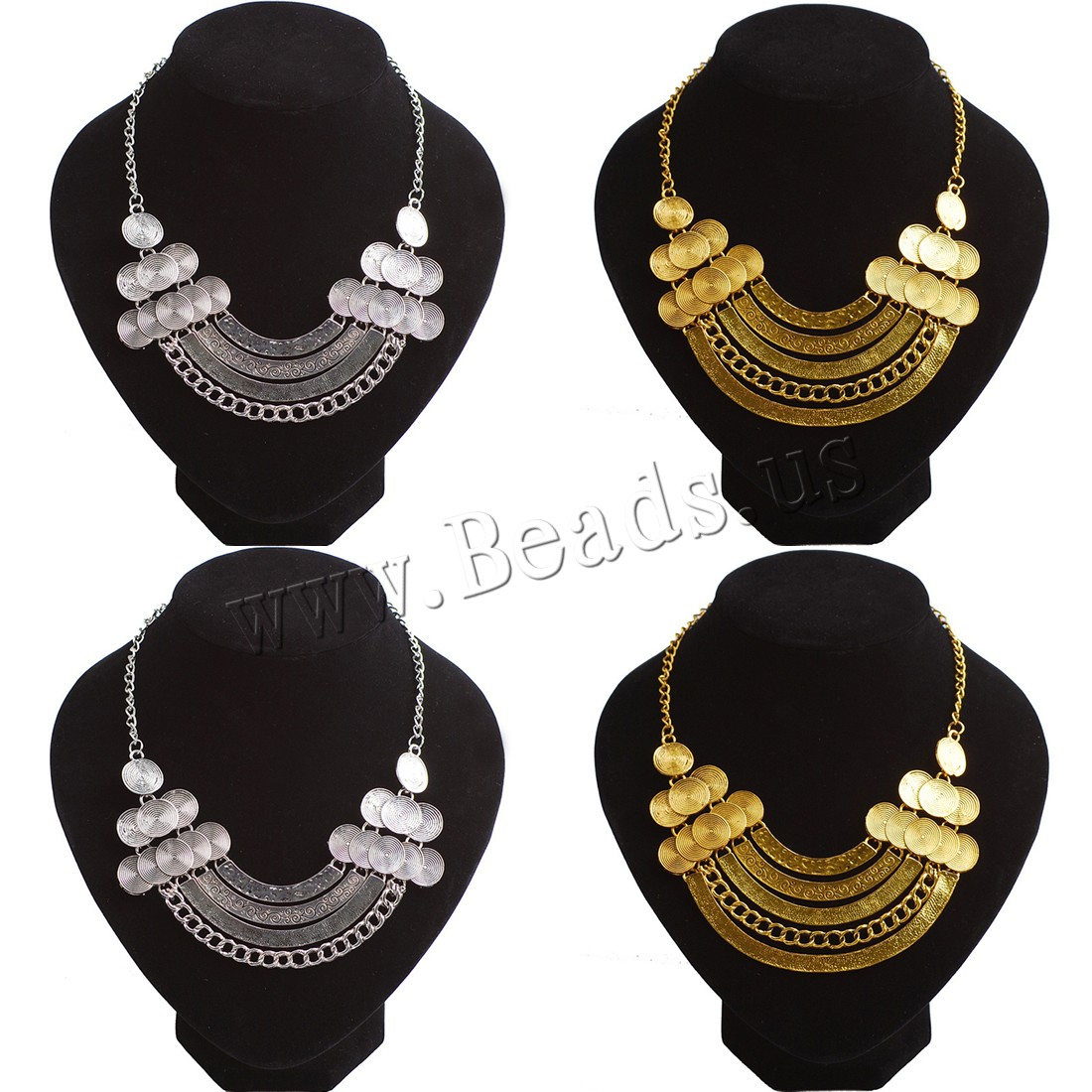 Buy Zinc Alloy Jewelry Necklace 2inch extender chain plated twist oval chain & woman & hollow colors choice nickel lead & cadmium free Sold Per Approx 17.7 Inch Strand