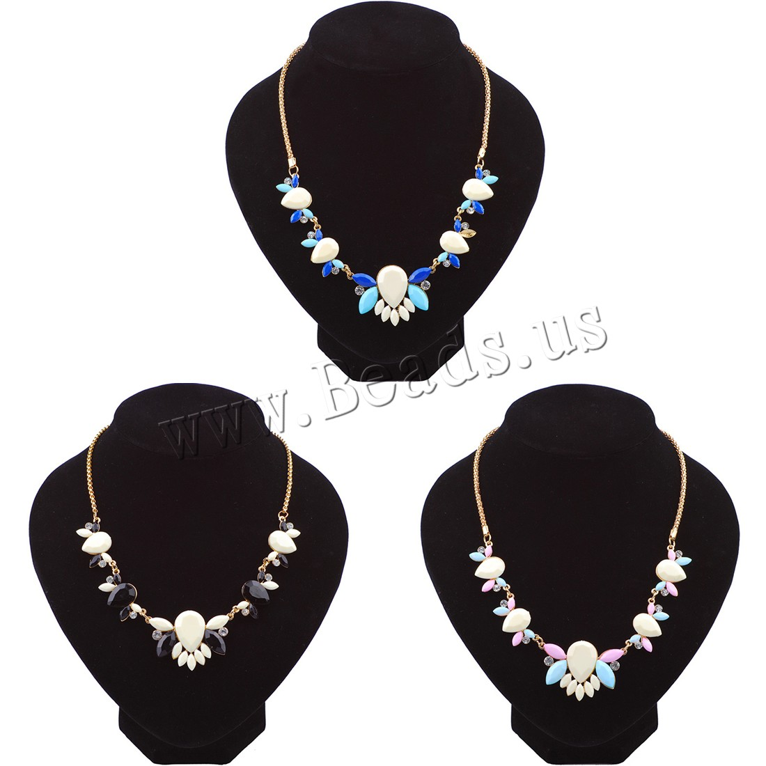 Buy Crystal Necklace Zinc Alloy Crystal 2inch extender chain rose gold color plated box chain & woman & faceted & rhinestone colors choice Sold Per Approx 19.6 Inch Strand