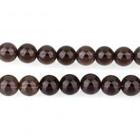Natürliche Rauchquarz Perlen, rund, verschiedene Größen vorhanden, Bohrung:ca. 1.3mm, verkauft per ca. 15.5 ZollInch Strang
