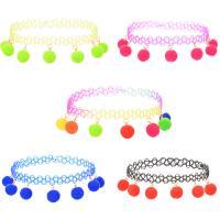 Tätowierung-Choker-Halskette, Angelleine, mit Polyester, plattiert, für Frau, keine, 10mm, verkauft per ca. 9.84 ZollInch Strang