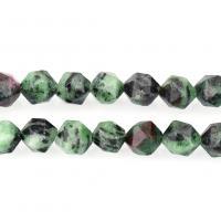 Rubin Zoisit Perle, natürliche & verschiedene Größen vorhanden & facettierte, Bohrung:ca. 1mm, verkauft per ca. 15 ZollInch Strang