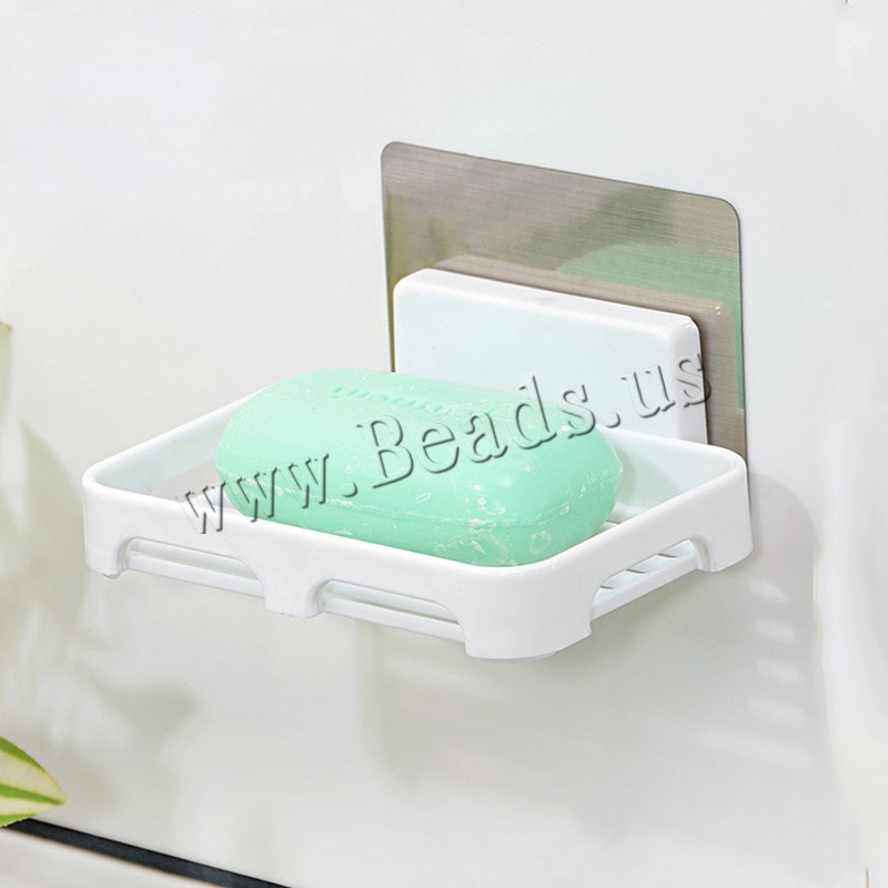 Buy Stainless Steel Sucker Soap Dish Polypropylene(PP) & ABS Plastic adhesive original color 132x90x20mm Sold Lot