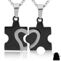 Ehepaar Halskette, Edelstahl, plattiert, Oval-Kette & verschiedene Stile für Wahl & für paar, keine, Länge:ca. 20 ZollInch, verkauft von setzen