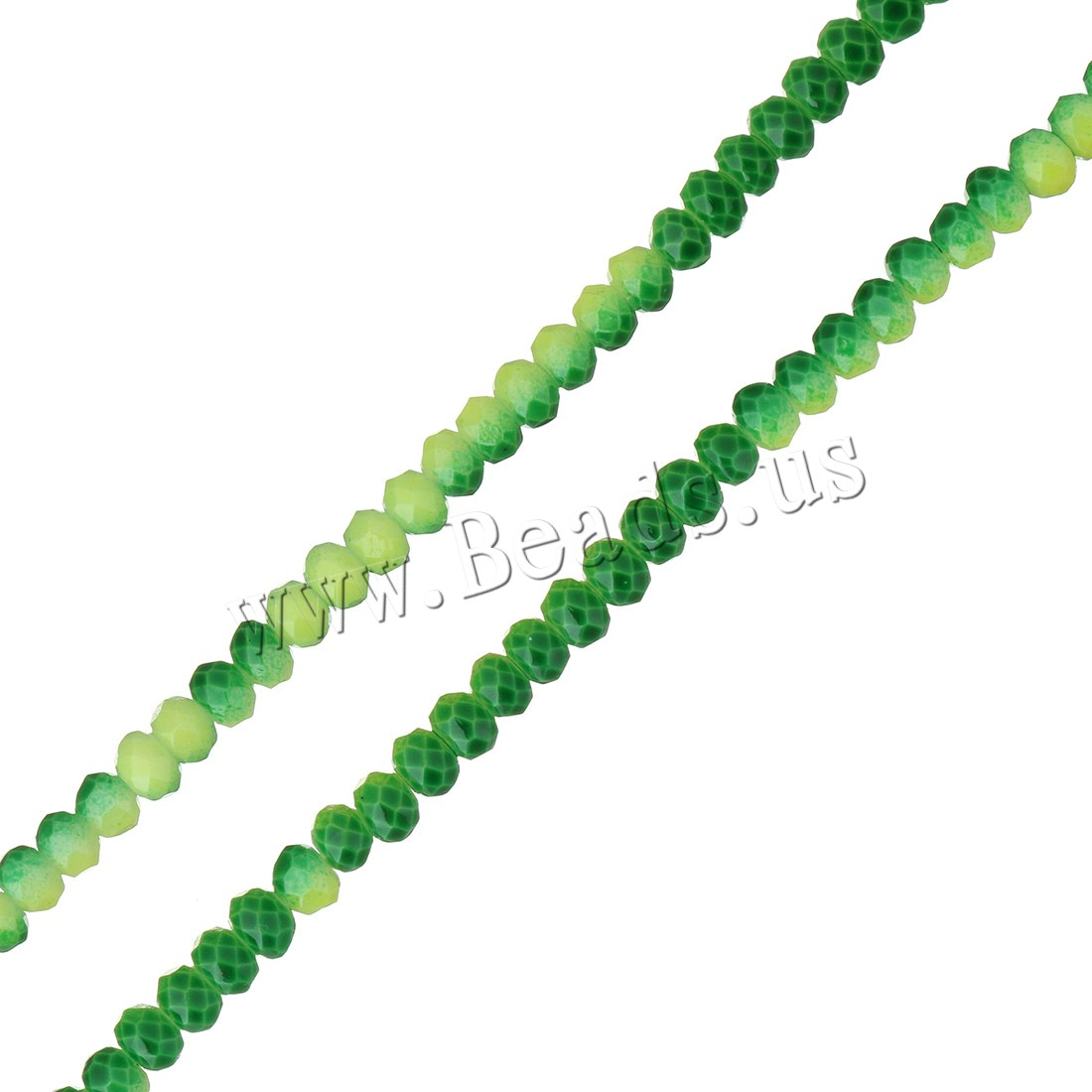 Buy Crystal Beads faceted Fern Green 3x4mm Hole:Approx 0.5mm Length:Approx 18 Inch 2Strands/Lot Approx 153PCs/Strand Sold Lot