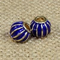 Imitation Cloisonne Zink Legierung Perlen, Zinklegierung, Laterne, goldfarben plattiert, Emaille, frei von Blei & Kadmium, 10x8mm, Bohrung:ca. 2.5mm, 10PCs/Tasche, verkauft von Tasche