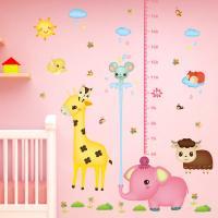 PVC Kunststoff Höhe-Wandsticker, Cartoon, Klebstoff & wasserdicht, 600x900mm, verkauft von setzen