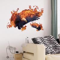 3D Wandaufkleber, PVC Kunststoff, Tier, Klebstoff & wasserdicht, 500x700mm, verkauft von setzen