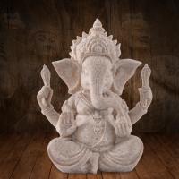 Buddhische Geschenke Dekorationen, Harz, mit Natürlicher Sandstein, Elephant, 100x90x130mm, verkauft von PC