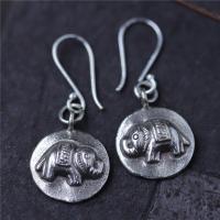 Thailand Sterling Schmuck Ohrring, Elephant, für Frau, 16.50x20mm, verkauft von Paar
