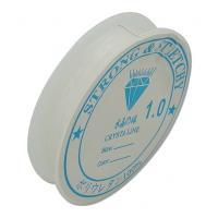 Kristall Faden, mit Kunststoffspule, elastisch, transluzent, 1mm, Länge:4.5 m, 10PCs/Menge, verkauft von Menge