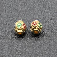Imitation Cloisonne Zink Legierung Perlen, Zinklegierung, Laterne, goldfarben plattiert, Emaille, frei von Blei & Kadmium, 10x8mm, Bohrung:ca. 2mm, 10PCs/Tasche, verkauft von Tasche