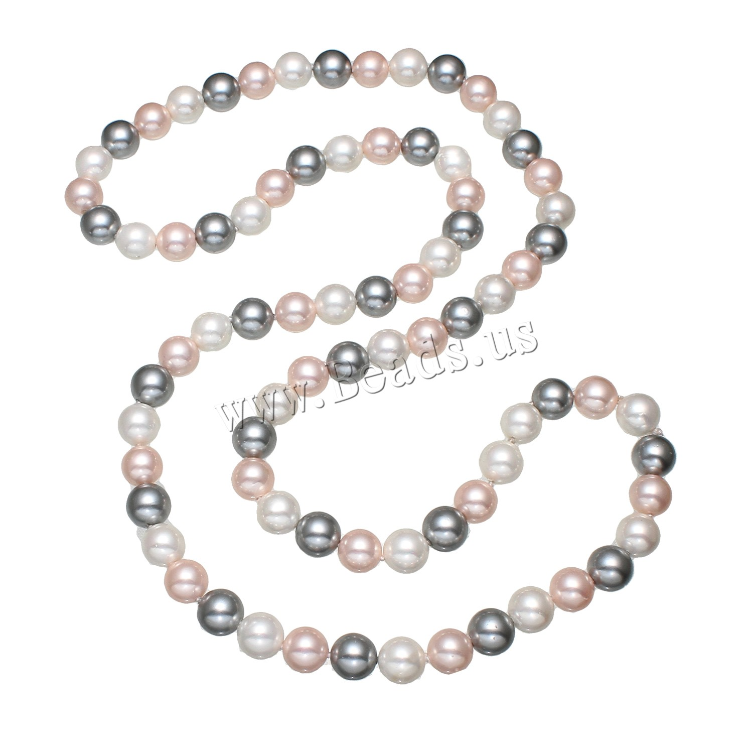 Buy Freshwater Pearl Sweater Chain Necklace South Sea Shell Round woman 10mm Sold Per Approx 32 Inch Strand