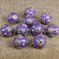 Indonesien Perlen, mit Zinklegierung, rund, keine, 15x14mm, Bohrung:ca. 1-2mm, 10PCs/Tasche, verkauft von Tasche