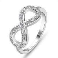Zirkonia Micro Pave Sterling Silber Ringe, 925 Sterling Silber, Unendliche, Micro pave Zirkonia & für Frau, 8mm, verkauft von PC