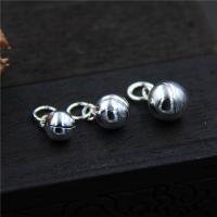 925 Sterling Silber Glockenanhänger, verschiedene Größen vorhanden, Bohrung:ca. 2-3mm, 10PCs/Menge, verkauft von Menge
