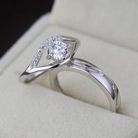 Ehepaar Fingerringe, 925 Sterling Silber, platiniert, offen & einstellbar & mit kubischem Zirkonia, Größe:6-10, verkauft von Paar
