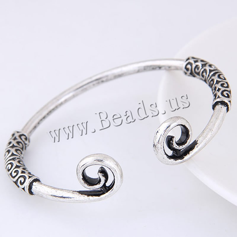 Buy Zinc Alloy Cuff Bangle antique silver color plated woman lead & cadmium free 67x56mm Inner Diameter:Approx 67mm Length:Approx 8 Inch Sold PC