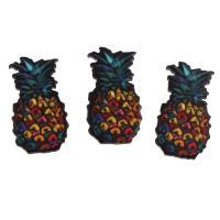 DIY Schmuck, Acryl, Ananas, kann auch als Haarschmuck oder Handy DIY Dekoration verwendet werden, 12x22x2mm, 20PCs/Tasche, verkauft von Tasche