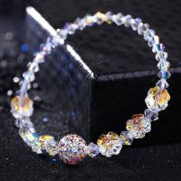 Österreichischer Kristall Armband, mit Ton, für Frau & facettierte, 10mm, verkauft per ca. 6 ZollInch Strang