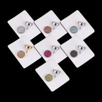 Titan Stahl Ohrring, Titanstahl, Edelstahl Stecker, flache Runde, plattiert, unisex, 10mm, verkauft von PC