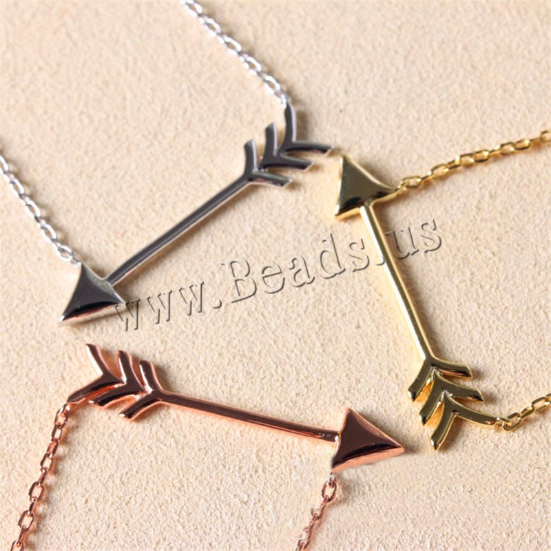 Buy Unisex Necklace Zinc Alloy iron chain 5cm extender chain Arrow plated oval chain colors choice lead & cadmium free 450mm Sold Per Approx 17.5 Inch Strand