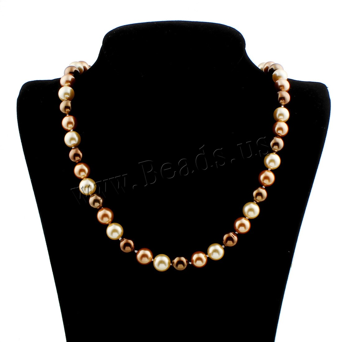 Buy South Sea Shell Sweater Chain Necklace Round woman 10mm Sold Per Approx 32 Inch Strand
