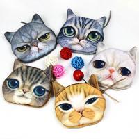 Geldbörse, Plüsch, mit Polyester, Katze, Mit smileygesicht & verschiedene Muster für Wahl, 95x110mm, verkauft von PC