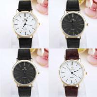 Geneva® Unisex Uhr, PU Leder, mit Glas & Zinklegierung, goldfarben plattiert, keine, 40mm, Länge:ca. 9.4 ZollInch, verkauft von PC