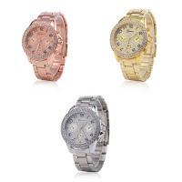 Geneva® Unisex Uhr, Zinklegierung, mit Glas, plattiert, mit Strass, keine, 37mm, Länge:ca. 9.3 ZollInch, verkauft von PC
