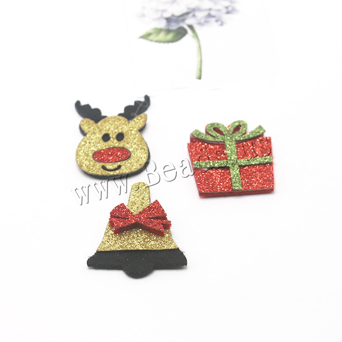 Buy Hair Accessories DIY Findings Non-woven Fabrics children & Christmas jewelry & different styles choice & colorful powder 25x40mm 31x37mm 30x35mm 5 Sold Lot