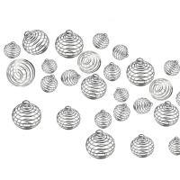 Schwimmdock Locketanhänger, Eisen, rund, silberfarben plattiert, verschiedene Größen vorhanden & hohl, Bohrung:ca. 3-5mm, 20PCs/Tasche, verkauft von Tasche