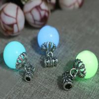 Fluoreszierende Pulver Stein, mit Zinklegierung, rund, verschiedene Größen vorhanden & glänzend, keine, Bohrung:ca. 2mm, verkauft von PC
