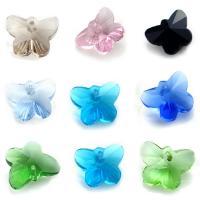 KRISTALLanhänger, Kristall, Schmetterling, facettierte, mehrere Farben vorhanden, 14.70x11.80x7.60mm, Bohrung:ca. 1mm, 10PCs/Tasche, verkauft von Tasche