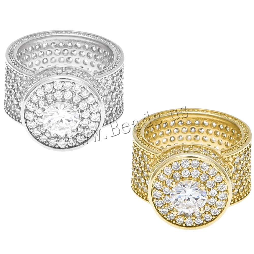 Buy Cubic Zircon Brass Finger Ring plated Unisex & different size choice & cubic zirconia colors choice nickel lead & cadmium free 12x16mm Sold PC