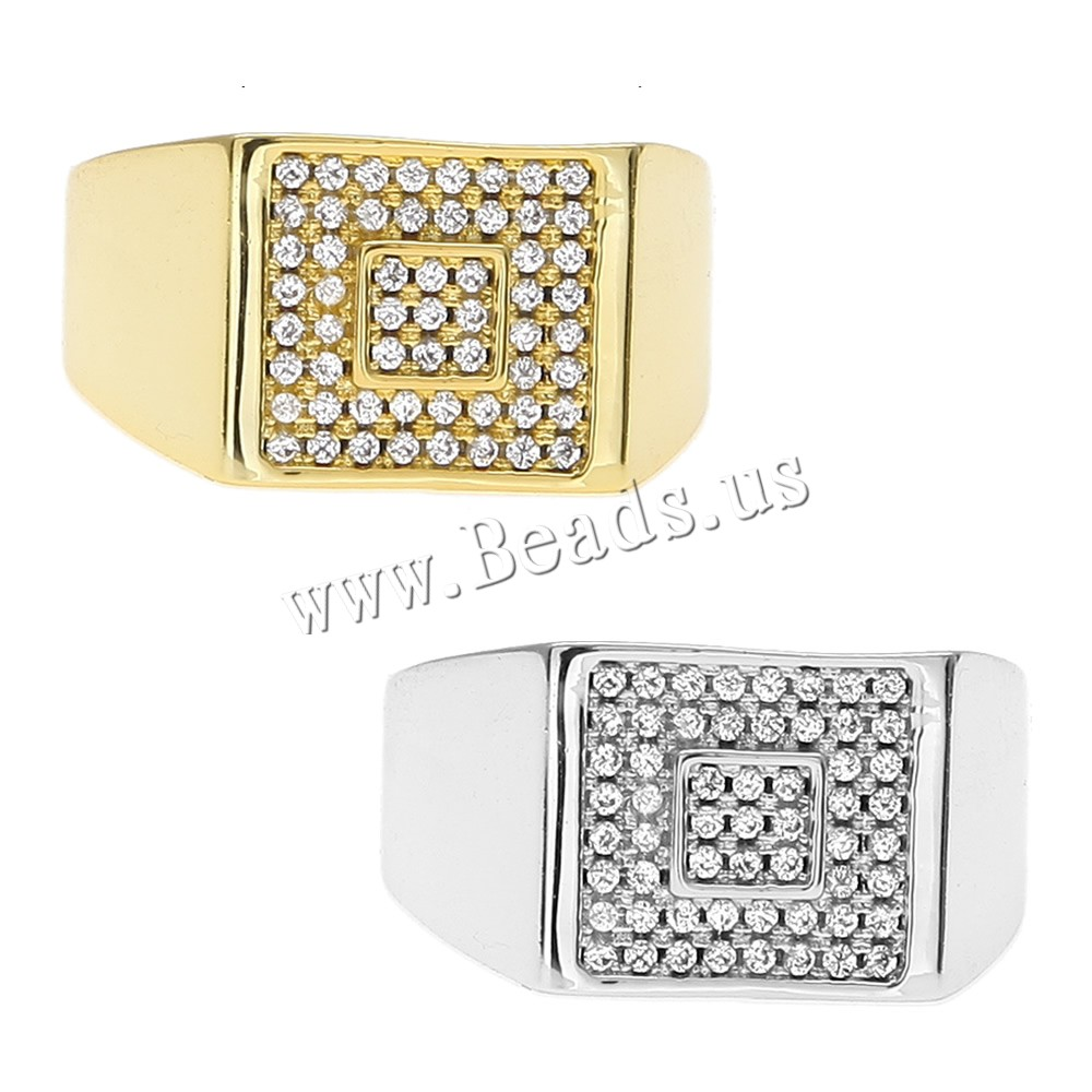 Buy Brass Finger Ring plated Unisex & different size choice & rhinestone colors choice nickel lead & cadmium free 12x15mm Sold PC