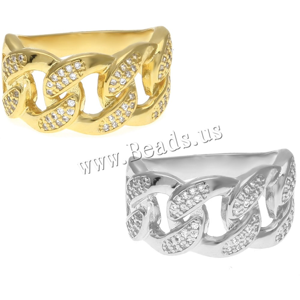 Buy Cubic Zircon Brass Finger Ring plated Unisex & different size choice & cubic zirconia colors choice nickel lead & cadmium free 12x22mm Sold PC