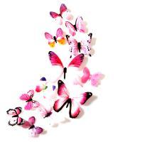Weich-PVC Schmetterling, keine, 60-110mm, 12PCs/Tasche, verkauft von Tasche