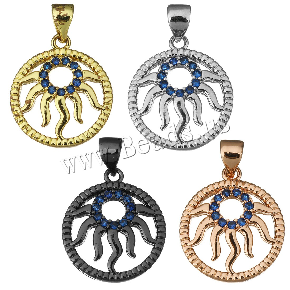 Buy Cubic Zirconia Micro Pave Brass Pendant plated micro pave cubic zirconia colors choice 16x18.50x3mm Hole:Approx 3.5x4.5mm 2 Sold Lot