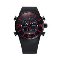 Weide® Uhrenkollektion, Silikon, mit Zinklegierung Zifferblatt & Glas, plattiert, 30 m wasserdicht & einstellbar & LED & für den Menschen, keine, 47x47mm, 32mm, Länge:ca. 8.6 ZollInch, verkauft von PC