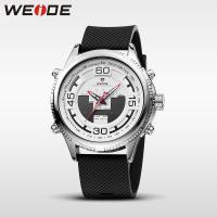 Weide® Uhrenkollektion, Silikon, mit Zinklegierung Zifferblatt & Glas, plattiert, 30 m wasserdicht & einstellbar & LED & für den Menschen, keine, 49x49x17mm, 24mm, Länge:ca. 8.2 ZollInch, verkauft von PC