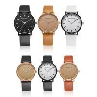 REBIRTH® Uhr, PU Leder, mit Zinklegierung Zifferblatt & Glas, plattiert, unisex & einstellbar, keine, 40x40x8mm, 20mm, Länge:ca. 8.8 ZollInch, verkauft von PC