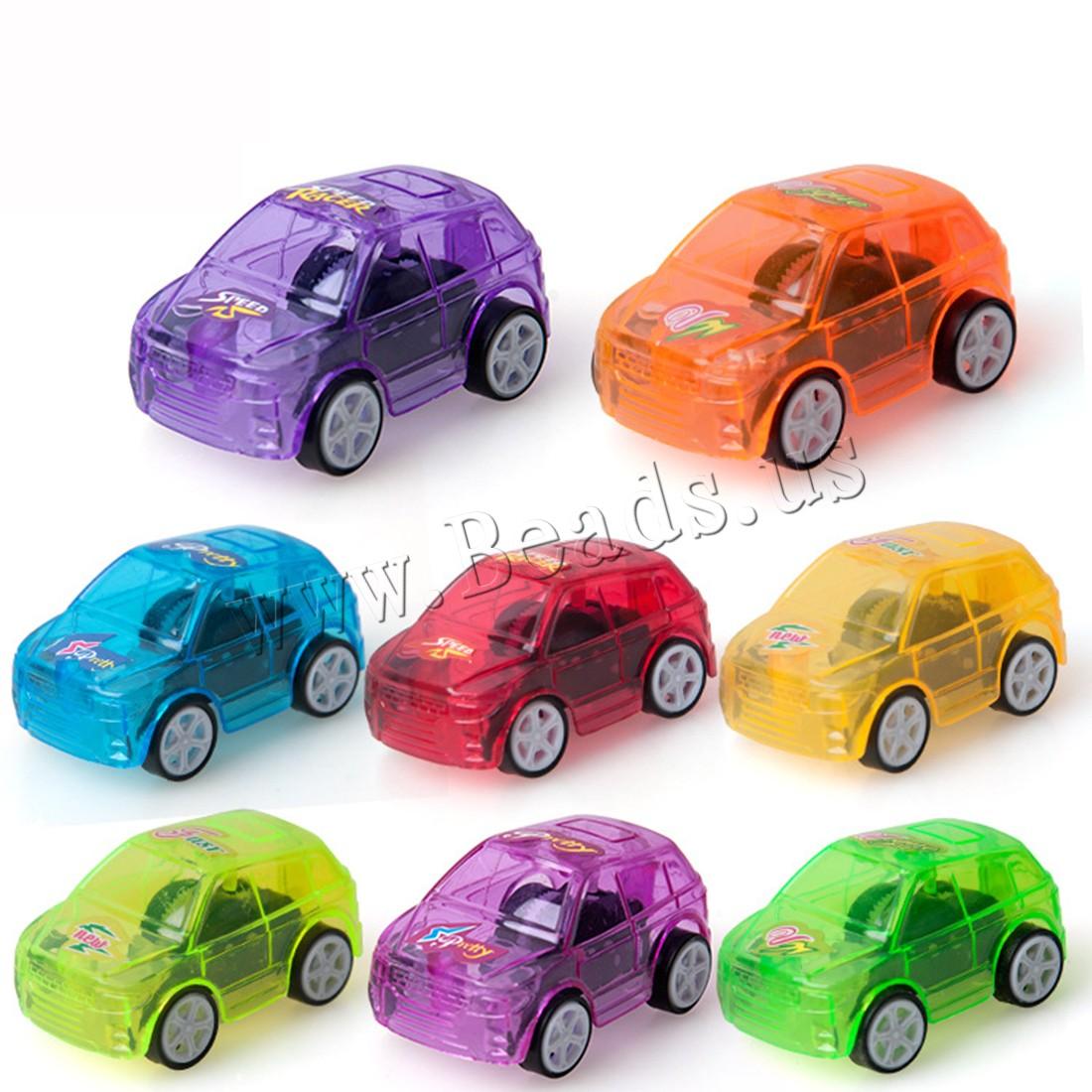 Buy ABS Plastic Car Toy children & transparent mixed colors 50x30x25mm 8PCs/Bag Sold Bag