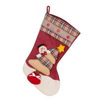 Weihnachtsferien Strümpfe Geschenk Socken, Stoff, mit Plüsch & Satinband & Kunststoff, Weihnachtssocke, Weihnachtsschmuck & verschiedene Stile für Wahl, 460x260x290mm, verkauft von PC