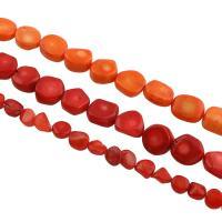 Natürliche Korallen Perlen, verschiedene Stile für Wahl, Bohrung:ca. 0.5-1mm, verkauft per ca. 15.7 ZollInch Strang