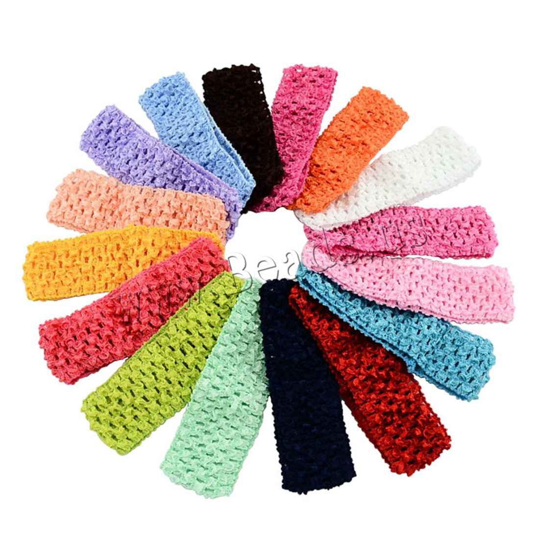 Buy Cotton Headband Nylon elastic & children mixed colors 40mm Length:Approx 11.4 Inch 1 Sold Lot