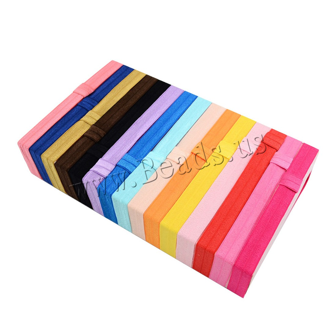 Buy Grosgrain Ribbon Headband Nylon elastic & children mixed colors 15mm Length:Approx 14 Inch 1 Sold Lot