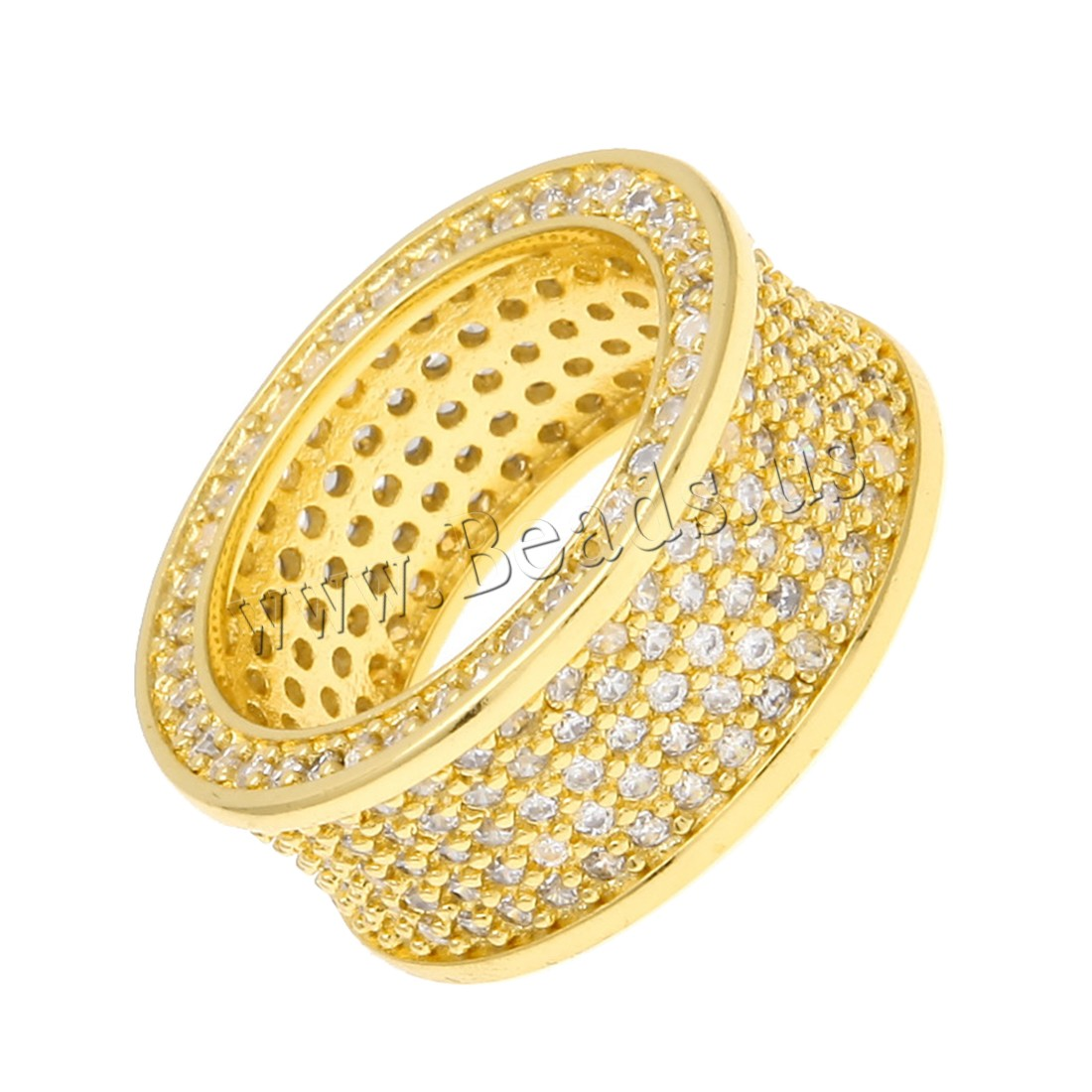 Buy Cubic Zircon Brass Finger Ring Stainless Steel plated Unisex & different size choice & cubic zirconia colors choice nickel lead & cadmium free 10x27mm Sold PC